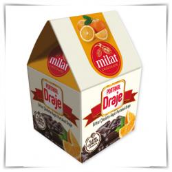 Bitter Çikolata Kaplı Portakal Draje 100 gr
